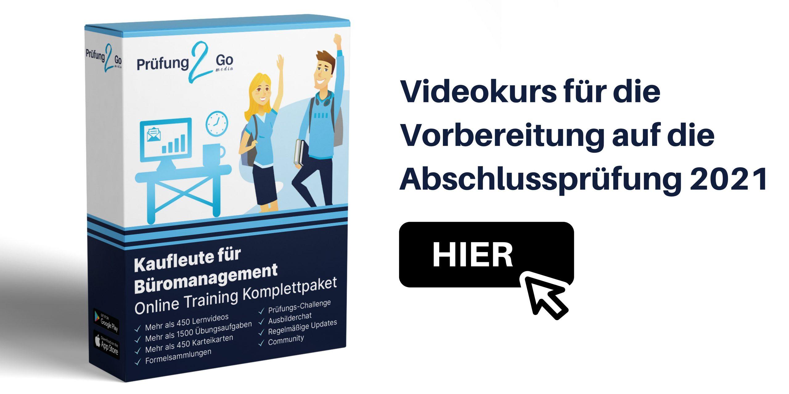 Abschlussprüfung Büromanagement 2021